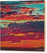 Taos Sunset Xix Wood Print