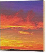 Taos Sunset Xxxx Wood Print