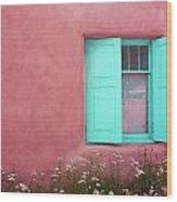 Taos Window I Wood Print