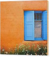 Taos Window IIi Wood Print