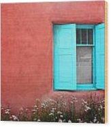 Taos Window Iv Wood Print