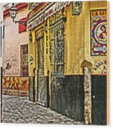 Tapas Bar In Sevilla Spain Wood Print