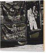 Tapestries Of  Elvis Presley  Hawai Concert Jesus Christ Sheep Horses Flags Armory Park Tucson Az Wood Print