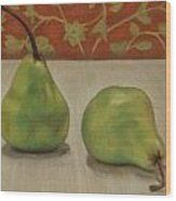 Tapestry Pears Wood Print