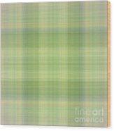 Tapeten-wallpaper-green-mix-checkered Wood Print