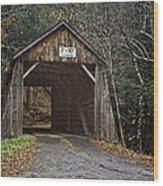 Tappan Covered Bridge Wood Print