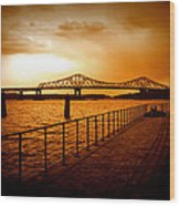 Tappan Zee Bridge I Wood Print