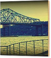 Tappan Zee Bridge II Wood Print