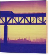 Tappan Zee Bridge Iv Wood Print