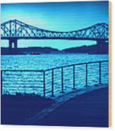 Tappan Zee Bridge Vii Wood Print