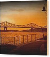 Tappan Zee Bridge Viii Wood Print
