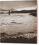 Tappan Zee Bridge X Wood Print