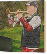 Taps For Troops Wood Print