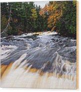 Taquamenon River Wood Print