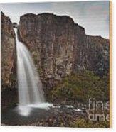 Taranaki Falls In Tongariro Np New Zealand Wood Print