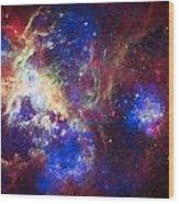 Tarantula Nebula 6  Wood Print by Jennifer Rondinelli Reilly - Fine Art Photography