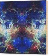 Tarantula Nebula Reflection Wood Print