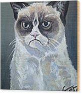 Tard - Grumpy Cat Wood Print