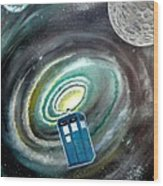 Tardis Wood Print by John Lyes
