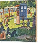 Tardis V Georges Seurat Wood Print