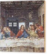 Tardis V Leonardo Da Vinci Wood Print