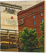 Target Field Home Of The Minnesota Twins Wood Print by Susan Stone