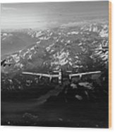 Target Tirpitz In Sight Black And White Version Wood Print