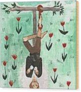 Tarot 12 The Hanged Man Wood Print