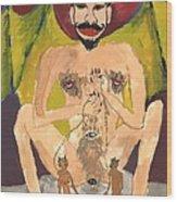 Tarot 15 The Devil Wood Print