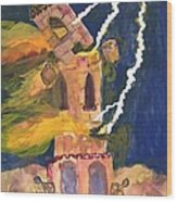 Tarot 16 The Tower Wood Print