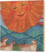 Tarot 19 The Sun Wood Print