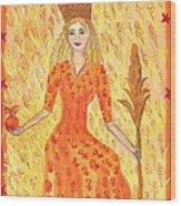 Tarot 3 The Empress Wood Print