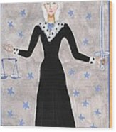 Tarot 8 Justice Wood Print