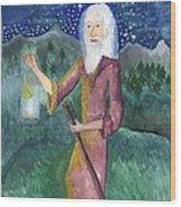 Tarot 9 The Hermit Wood Print