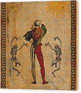 Tarot Card The Fool Wood Print
