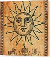 Tarot Card The Sun Wood Print by Cinema Photography