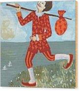 Tarot The Fool Wood Print