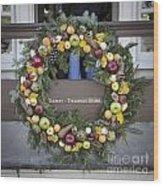 Tarpley Thompson Store Wreath Wood Print