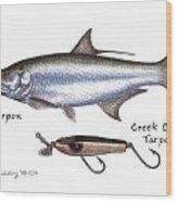 Tarpon And Creek Chub Tarpon Lure 1933 Wood Print