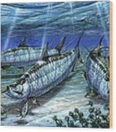 Tarpon In Paradise - Sabalo Wood Print by Terry Fox
