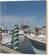 Tarpon Springs Fishing Boats  Wood Print