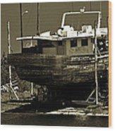 Tarpon Springs Sponge Boat Wood Print