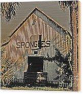 Tarpon Springs Warehouse Wood Print
