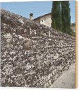 Tarquinia Muro Di Cinta Con Cipressi Wood Print