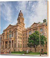 Tarrant County Courthouse II Wood Print