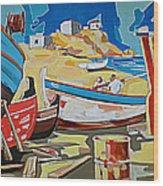 Tarsanas-boatyard Wood Print