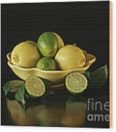 Tart And Tasty With Lemon And Lime Wood Print