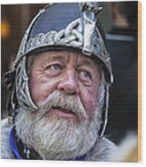 Tartan Day Parade Nyc 2013 Shetland Isle Celtic Warrior Armor Wood Print