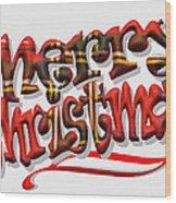Tartan Merry Christmas Wood Print