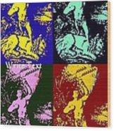Tarzan Goes Pop Wood Print